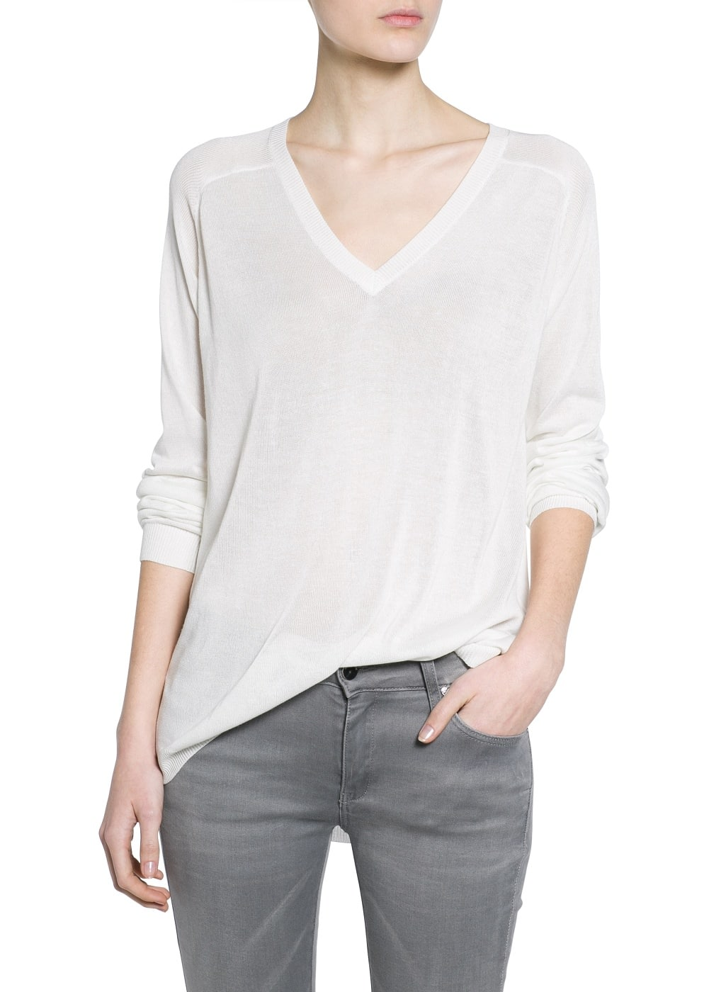 Pull-over long soie | MANGO