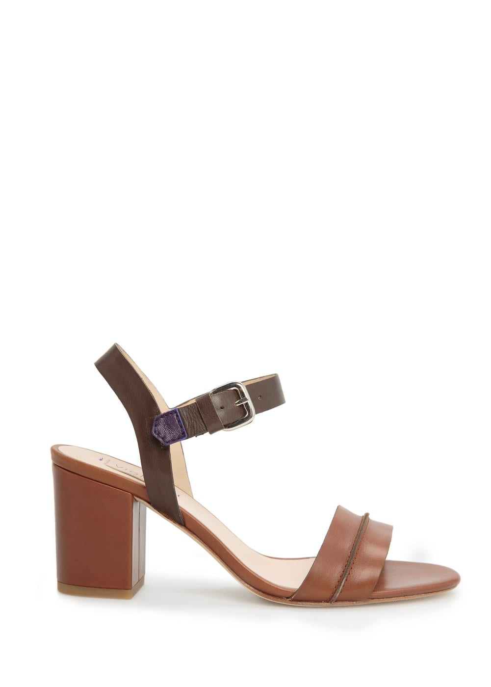 Heel leather sandals