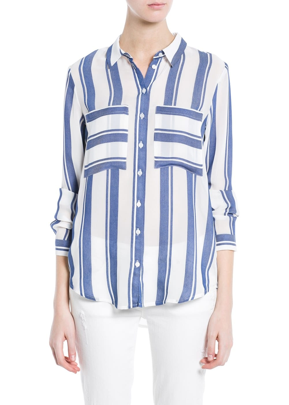 Striped lightweight shirt | MANGO