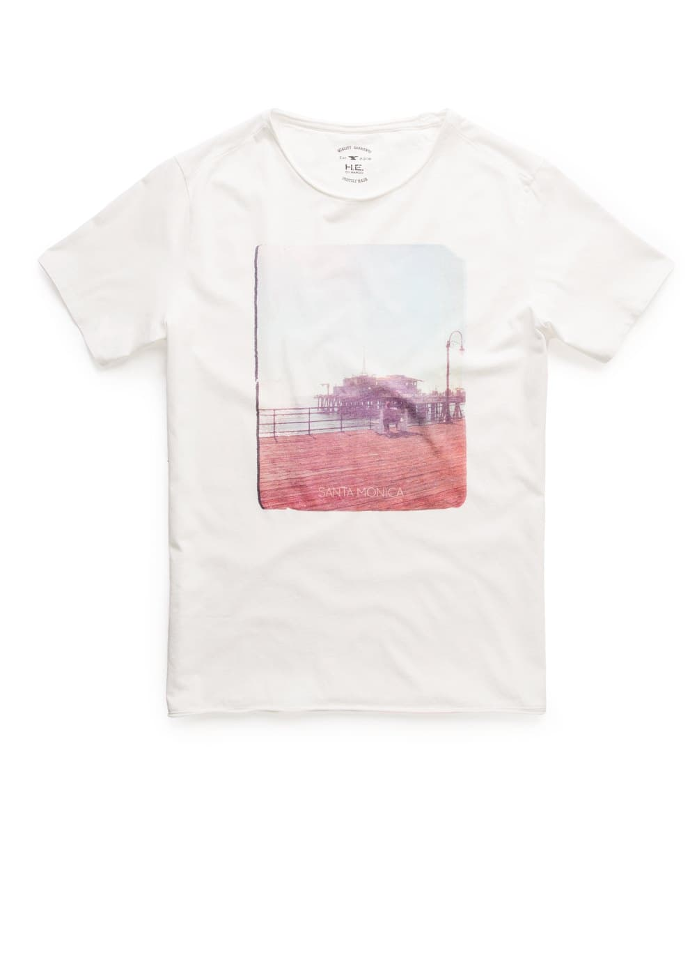 T-shirt santa monica | MANGO MAN