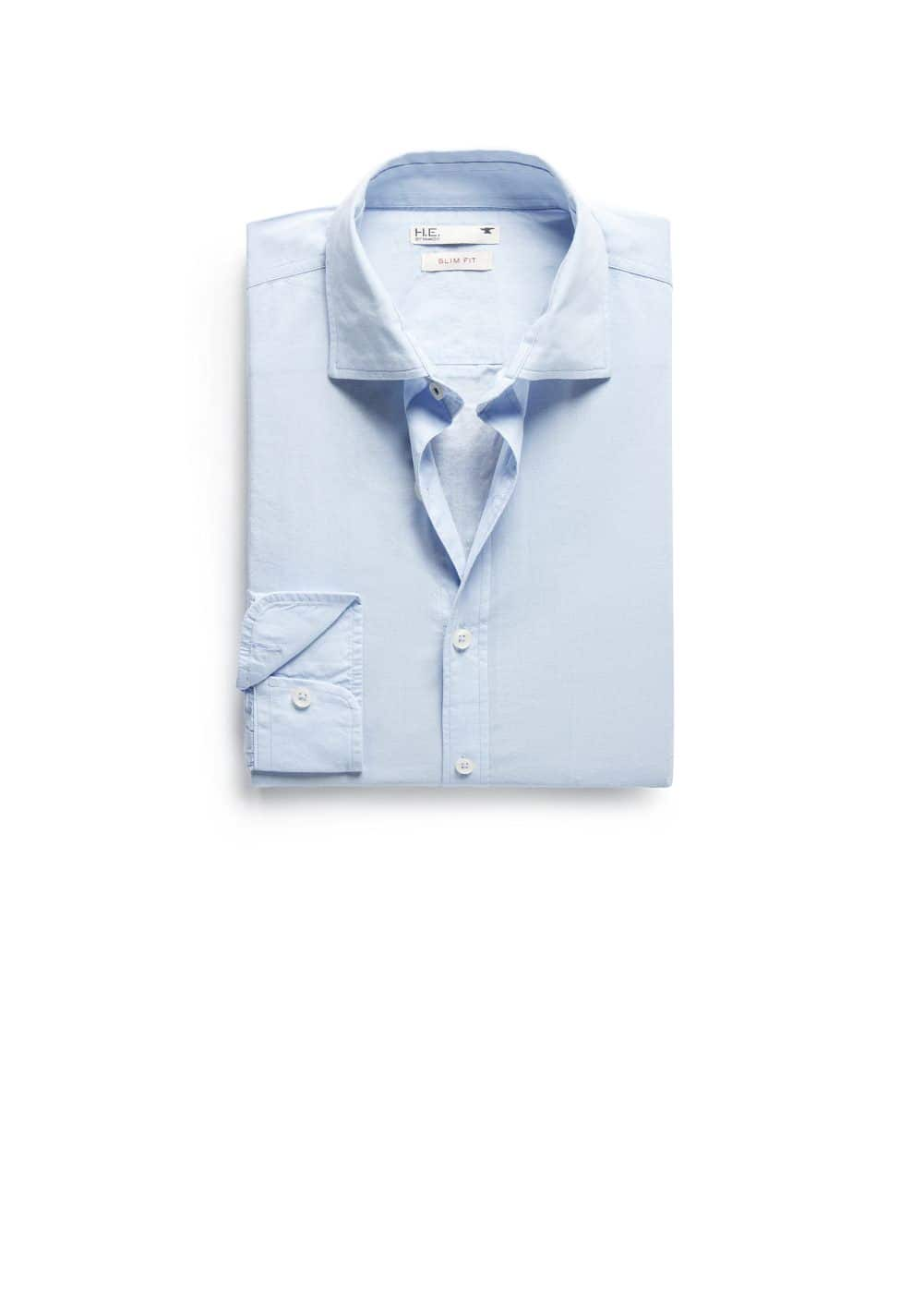 Slim-fit voile shirt | MANGO