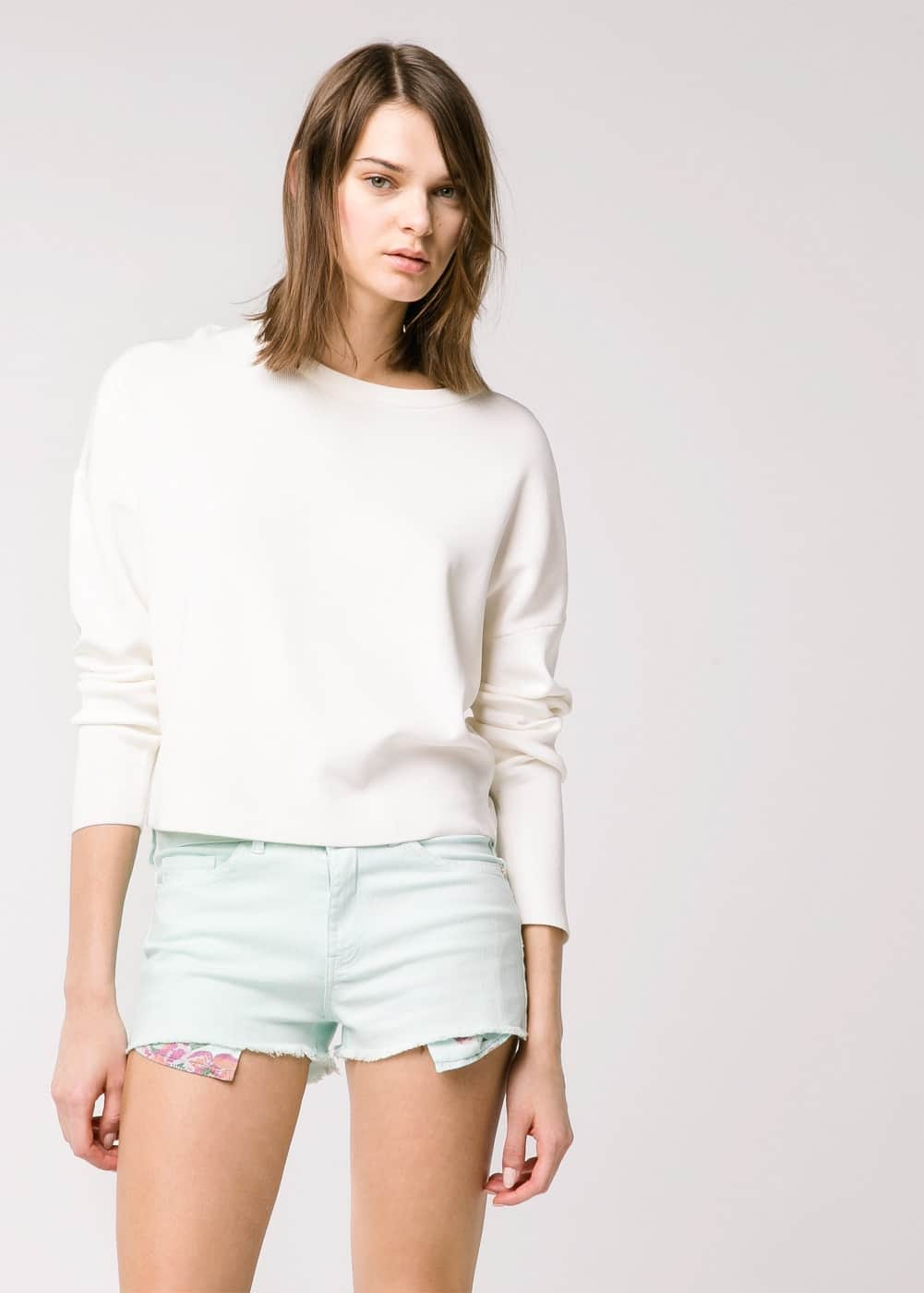 Short denim menta