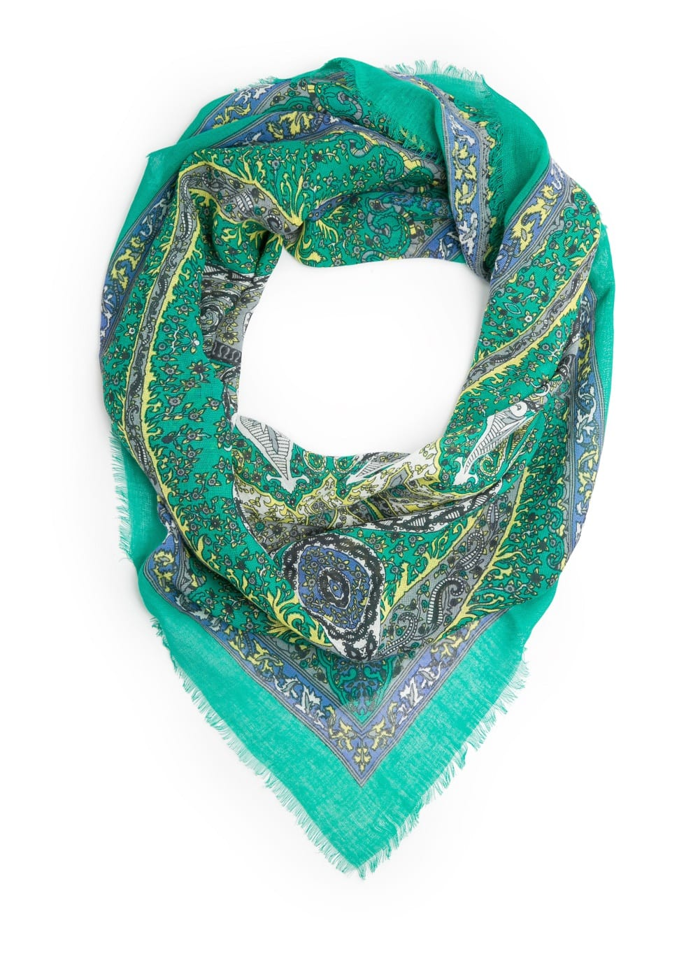 Baroque cotton scarf