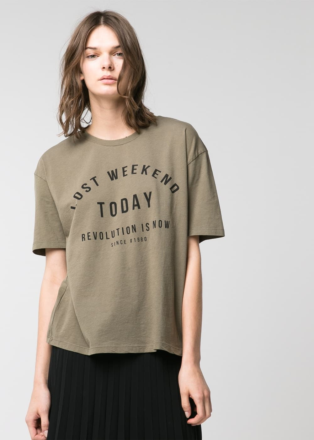 Message oversize t-shirt