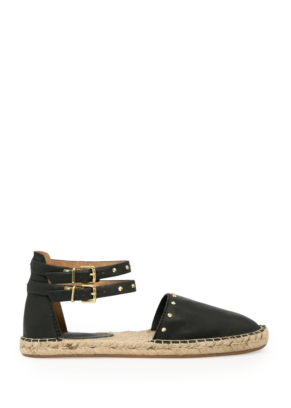 Spike leather espadrilles
