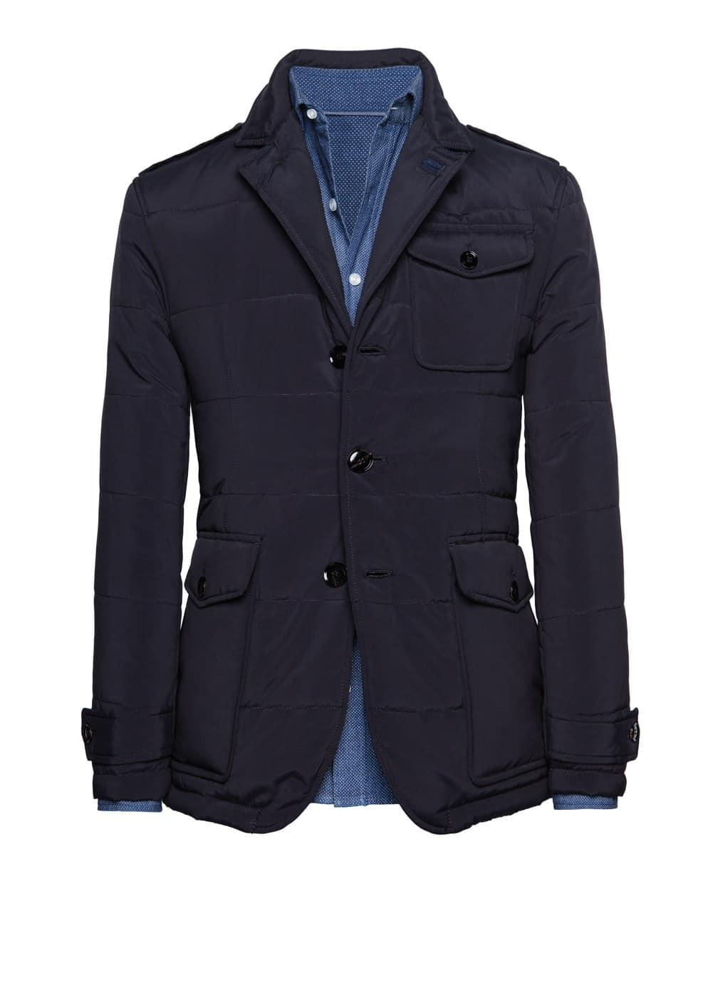 Multi-pocket padded blazer | MANGO