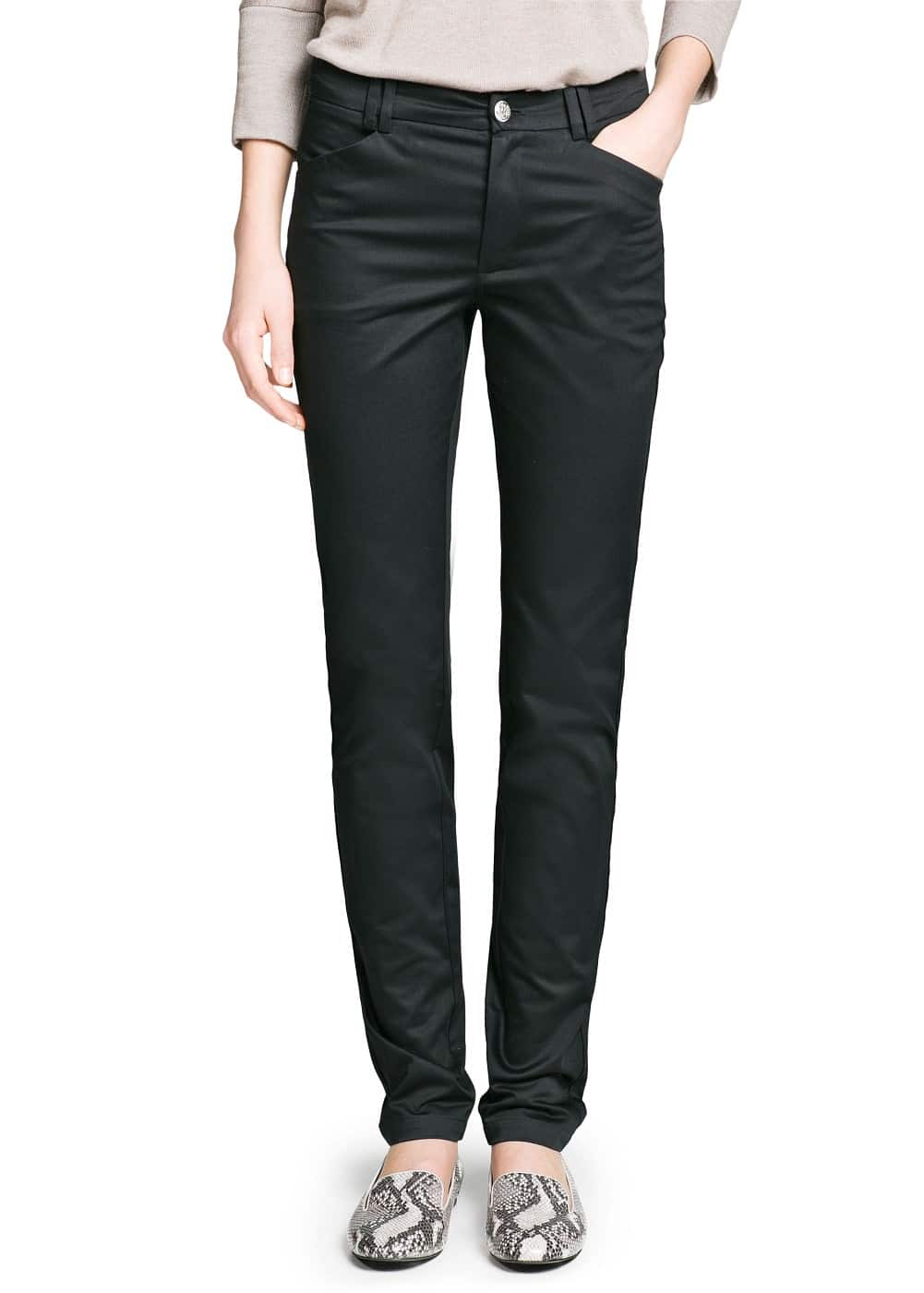 Slim-fit cotton trousers | MANGO