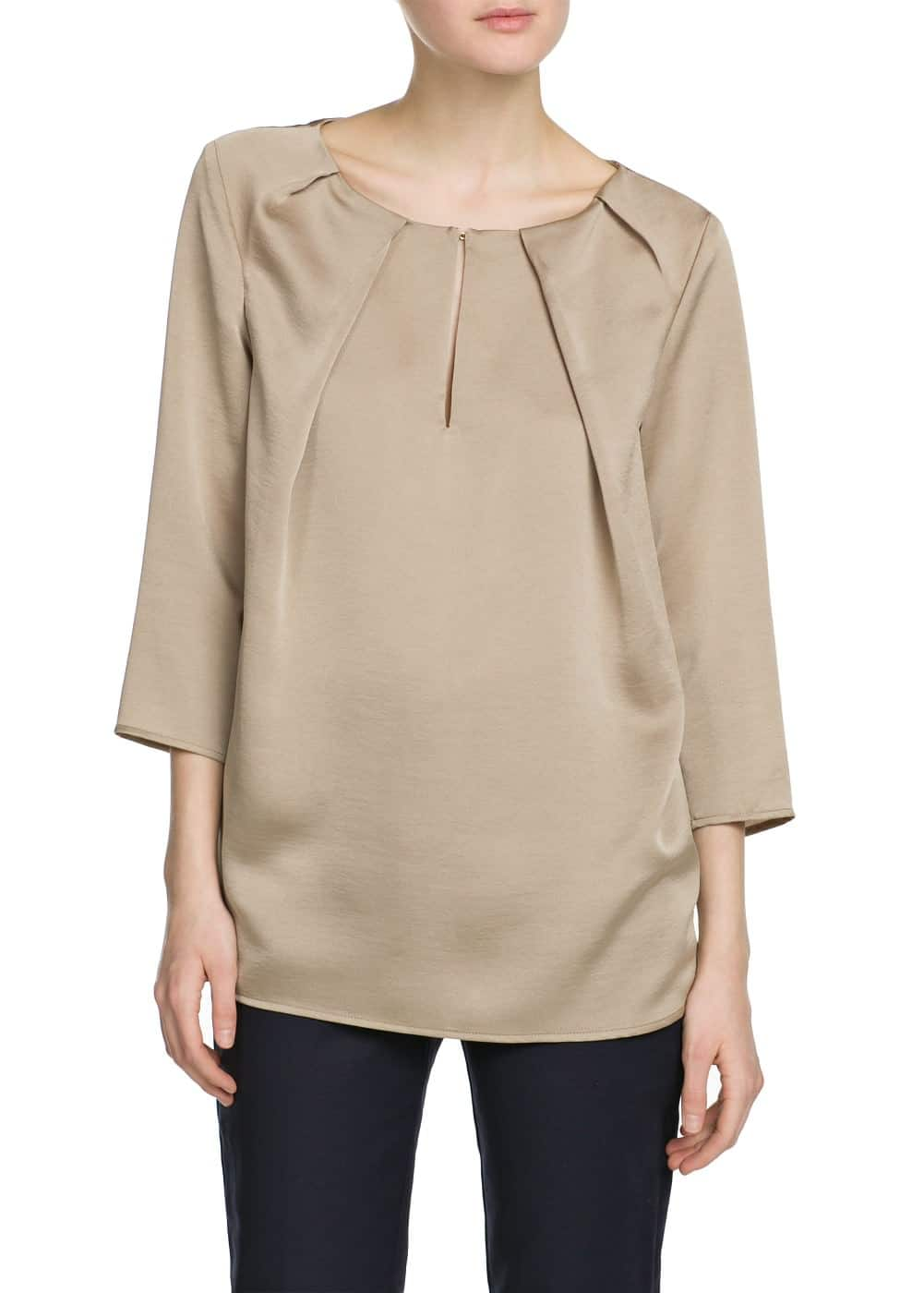 Pleated blouse | MANGO