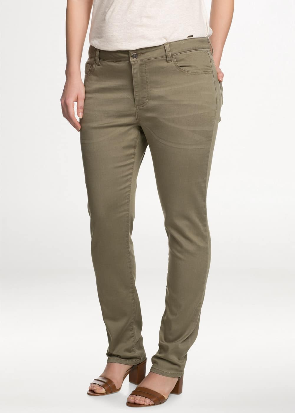 Slim-fit cotton-blend trousers | MANGO MAN