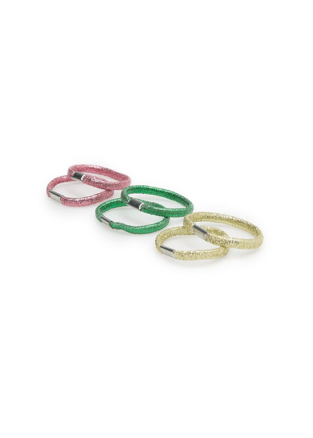Metallic hair tie pack