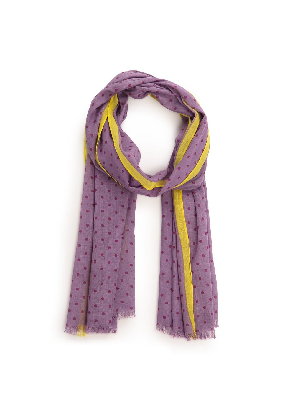 Polka-dot cotton scarf