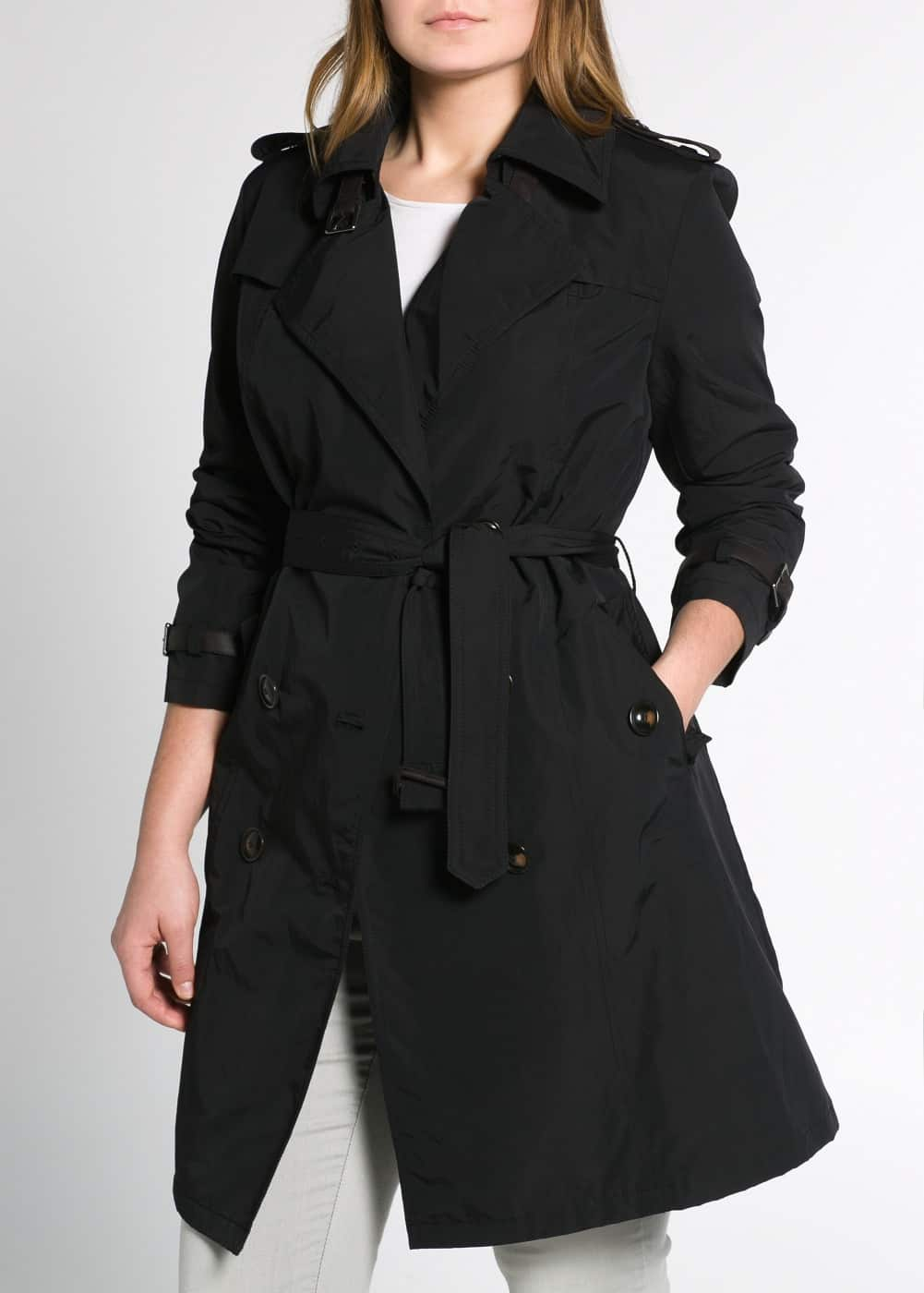 Belted cuff trench