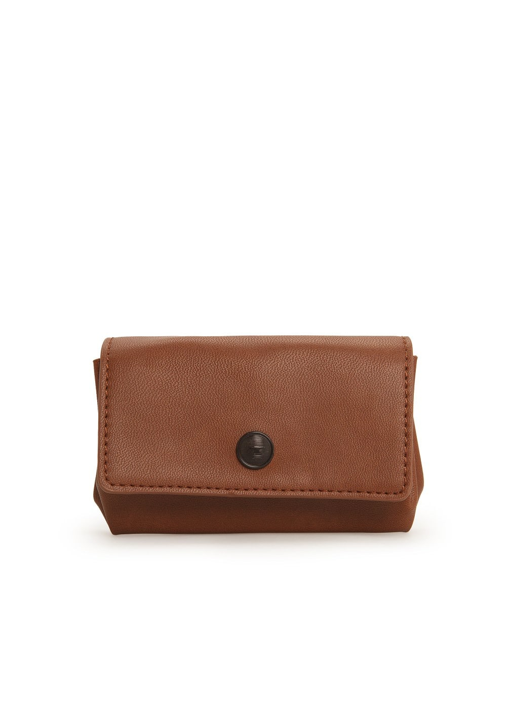 Triple compartment coin purse