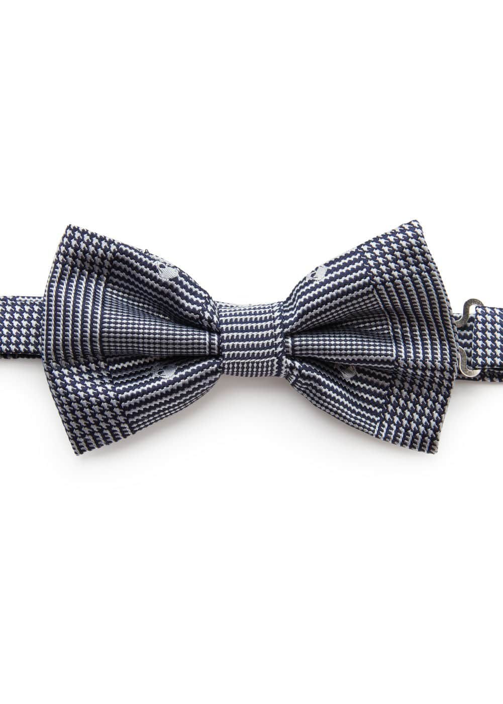 Skull Prince of Wales bow-tie