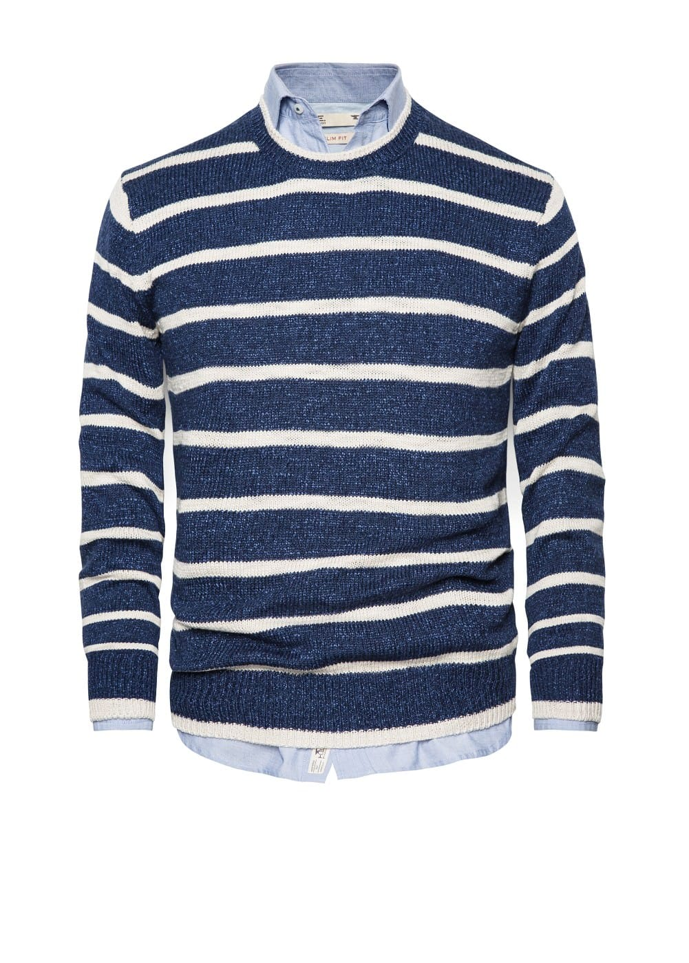 Striped flecked sweater | MANGO