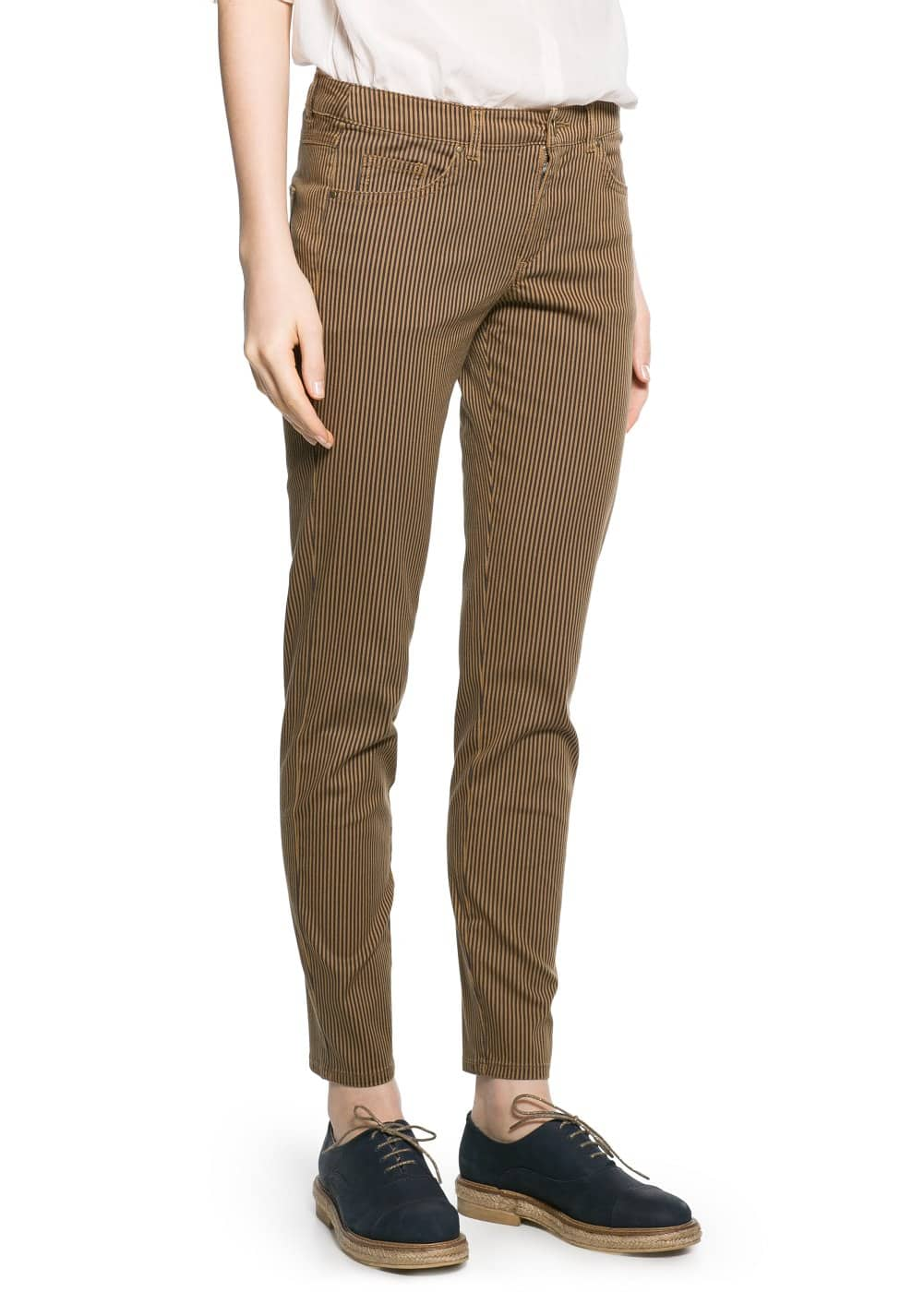 Striped slim-fit trousers | MANGO
