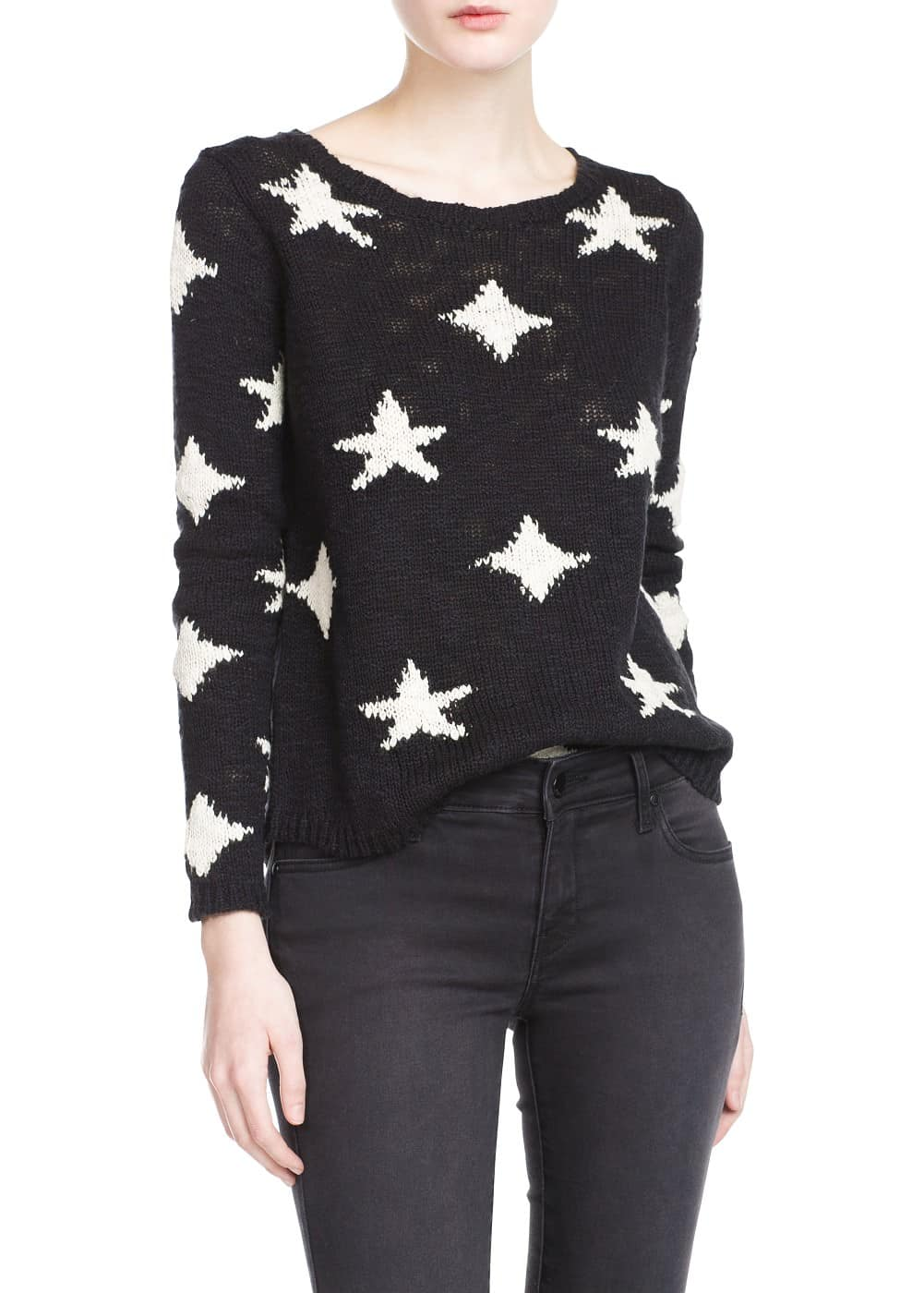 Star cotton sweater | MANGO