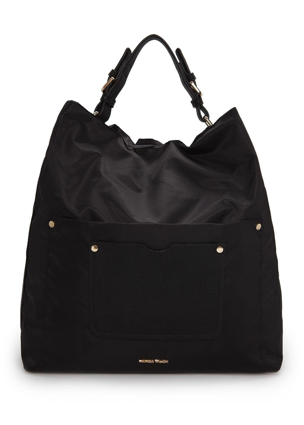 Nylon hobo bag | MANGO