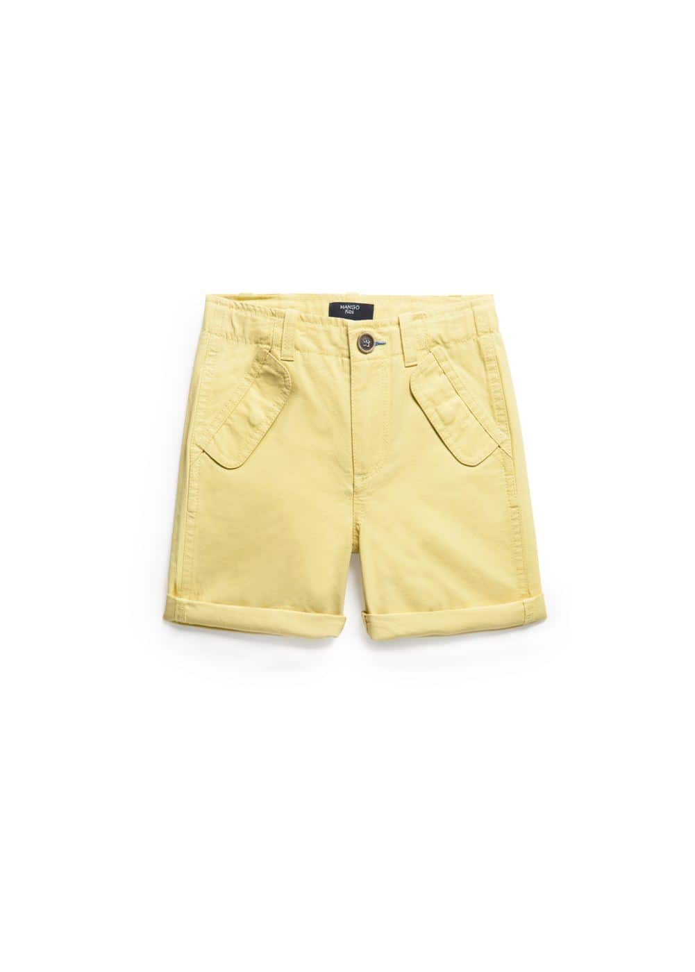 Patch pocket bermuda shorts