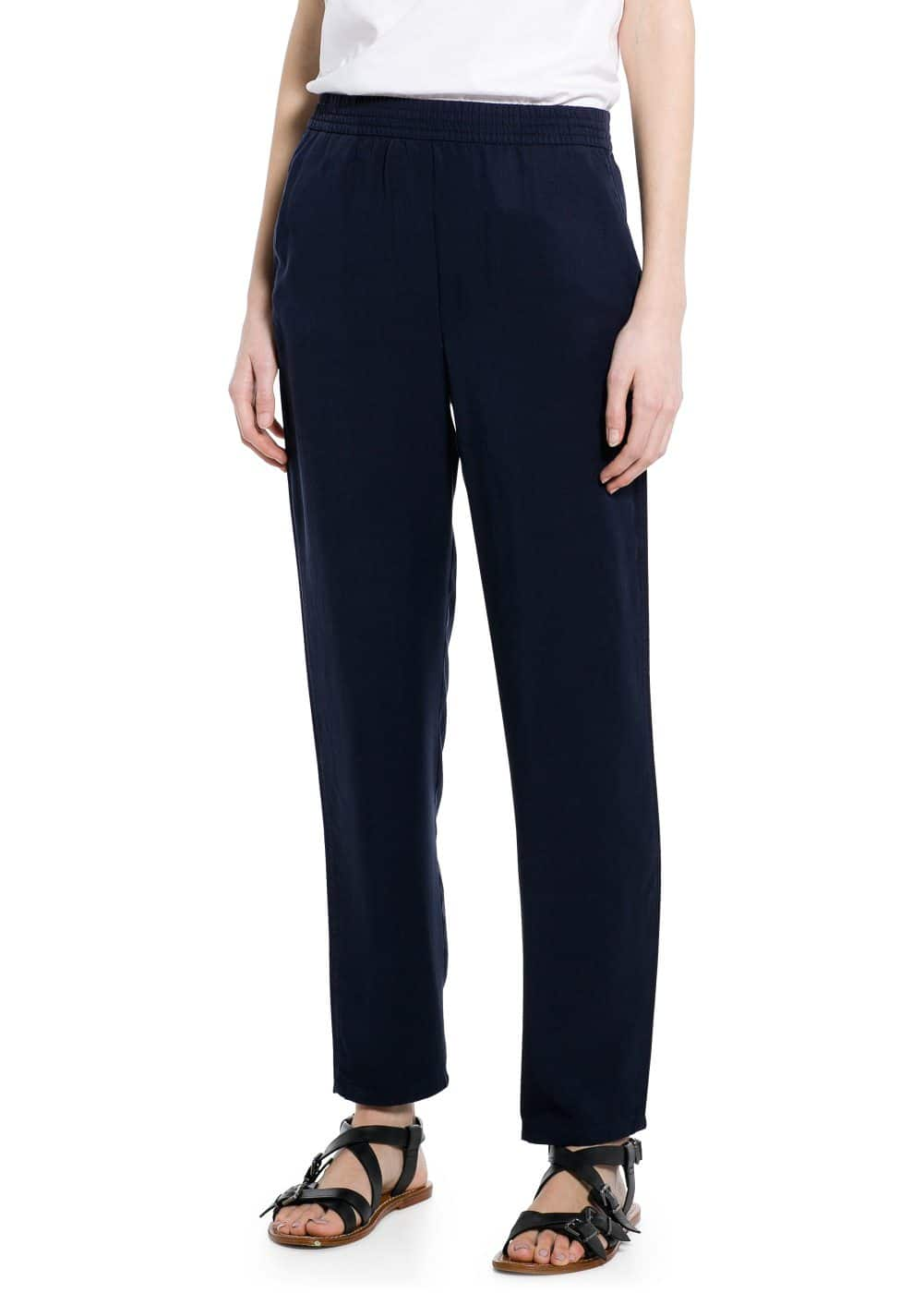 Soft fabric baggy trousers