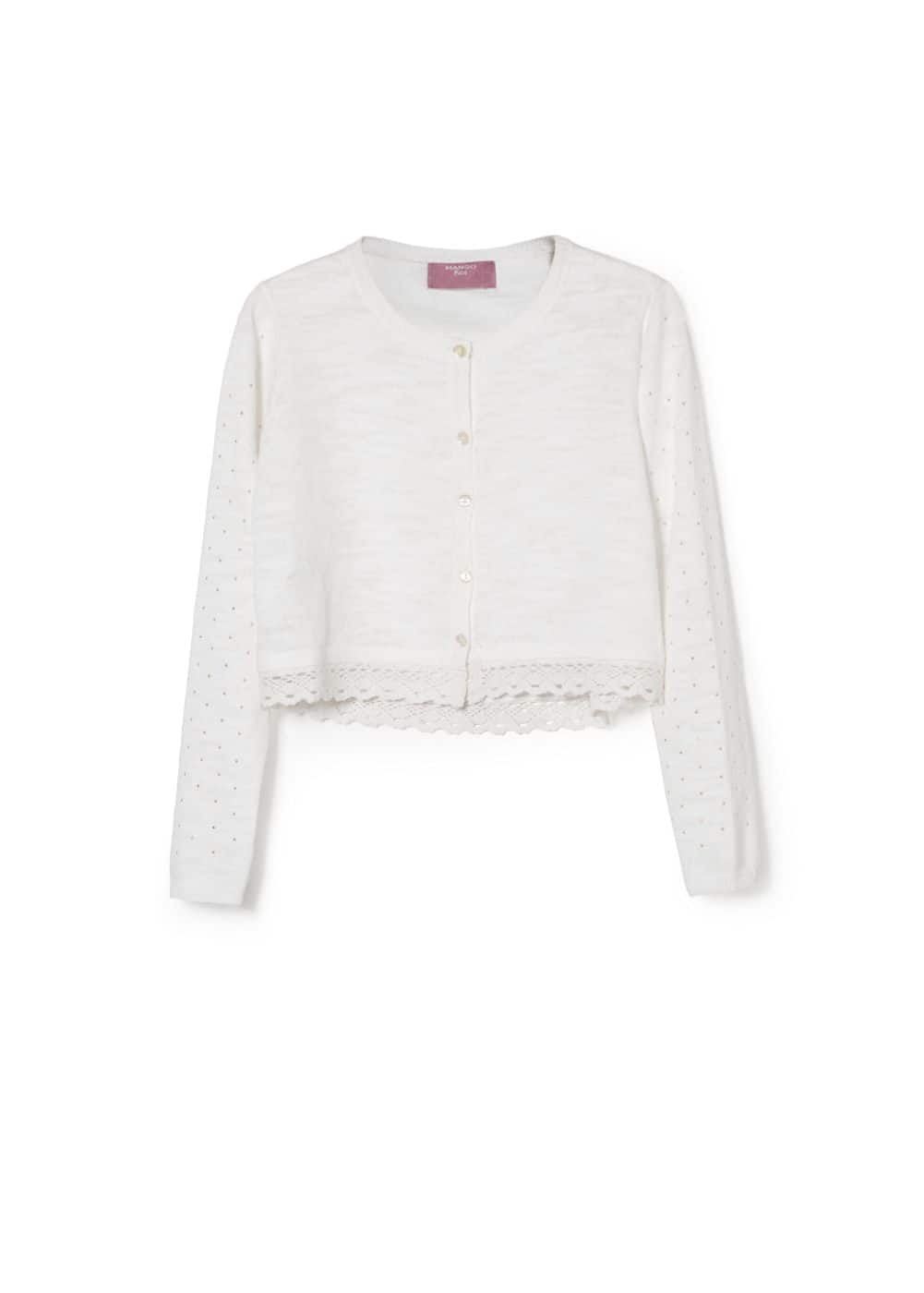 Bead lace cardigan | MANGO KIDS