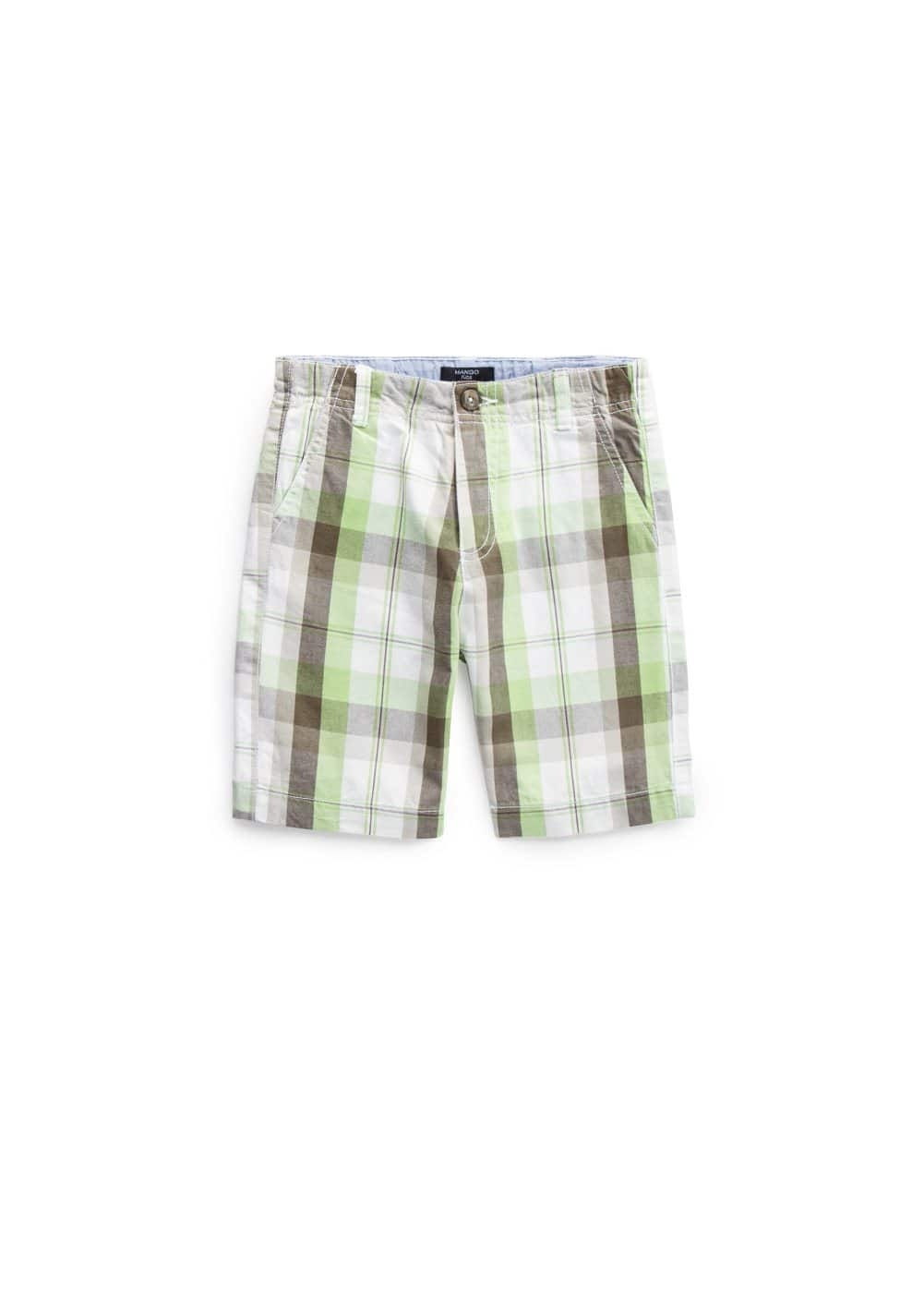 Madras-check bermuda shorts