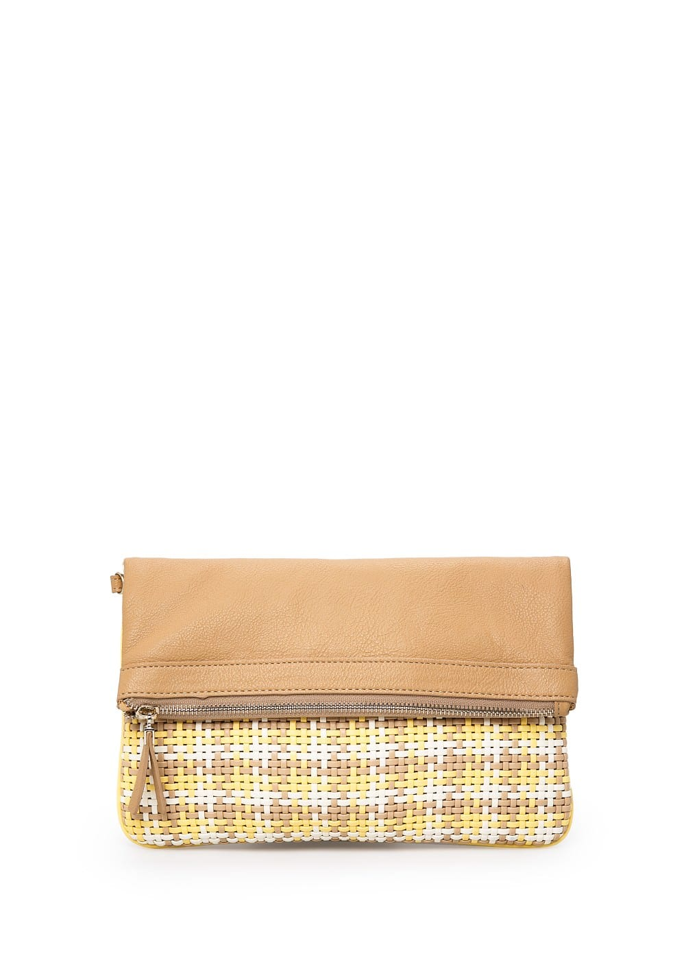 Interwoven folded clutch