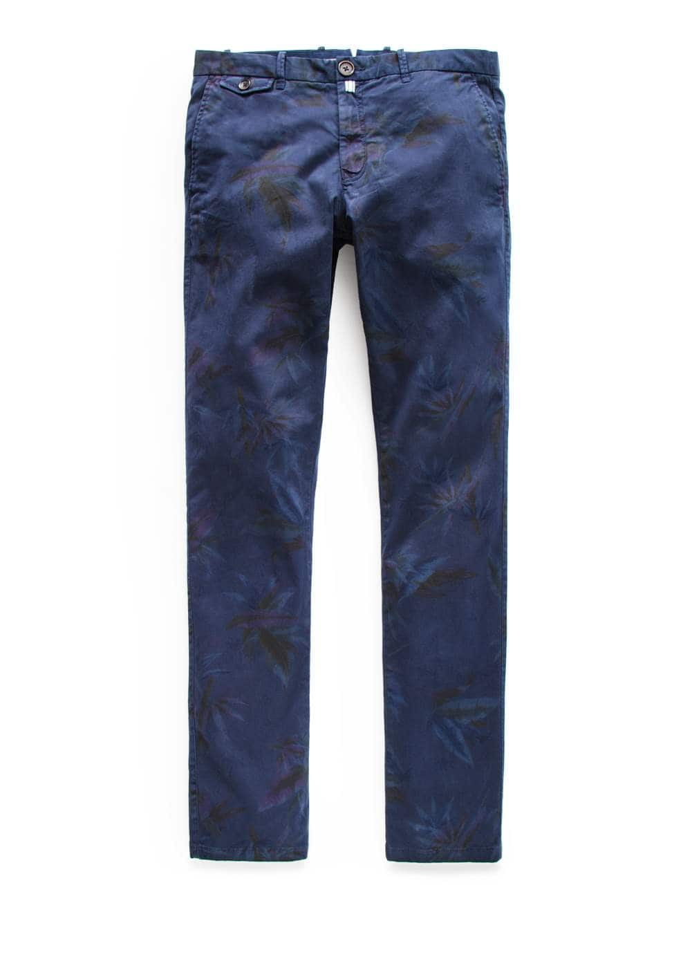 Chino slim-fit garment-dyed estampado
