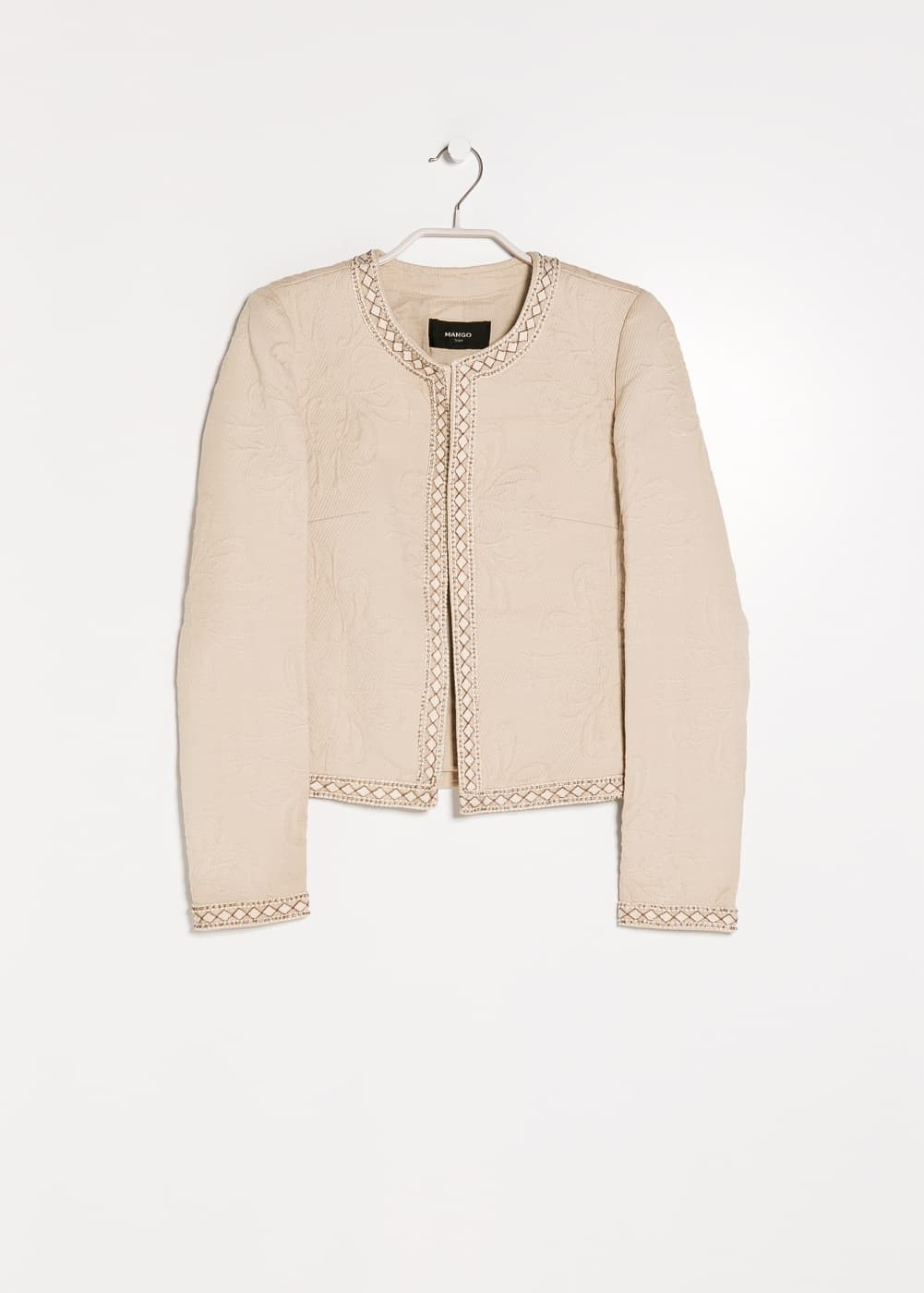 Beaded textured jacket
