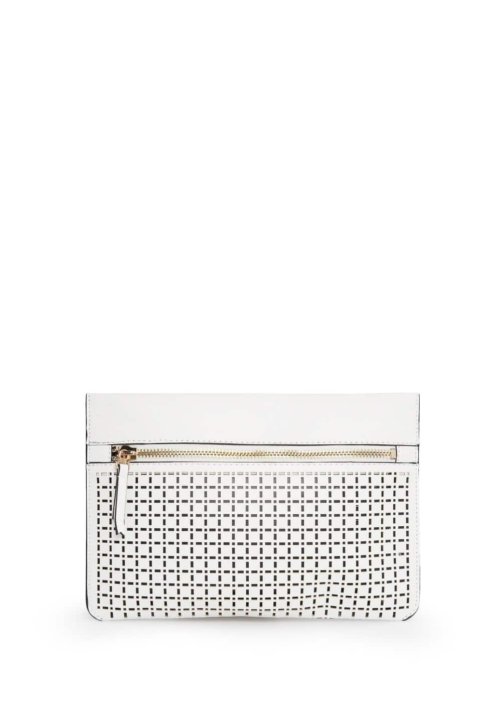 Laser-cut clutch | MANGO MAN