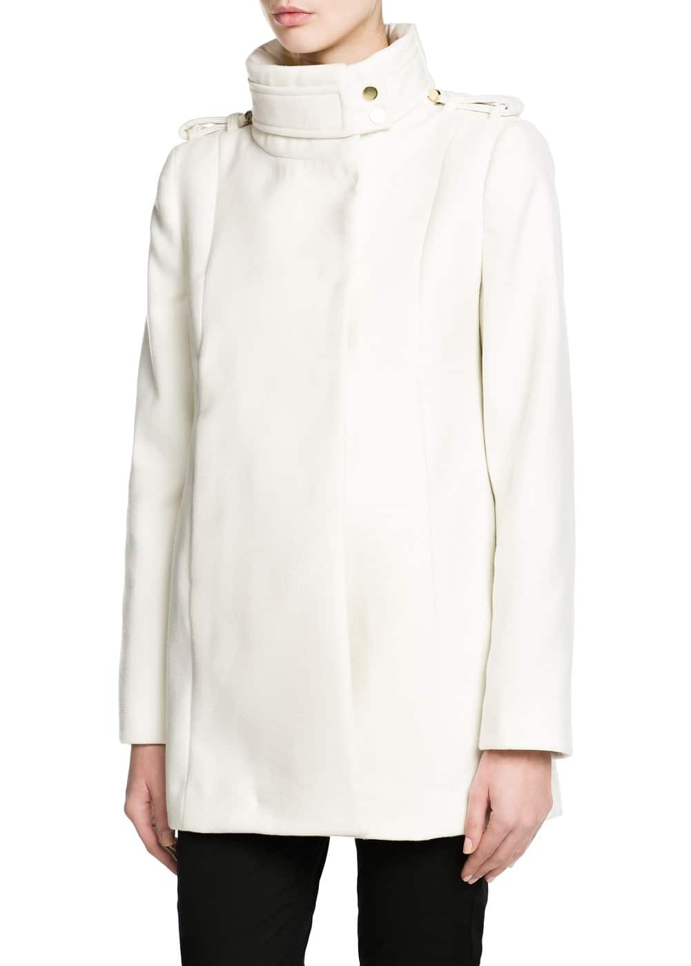 Funnel neck coat | MANGO