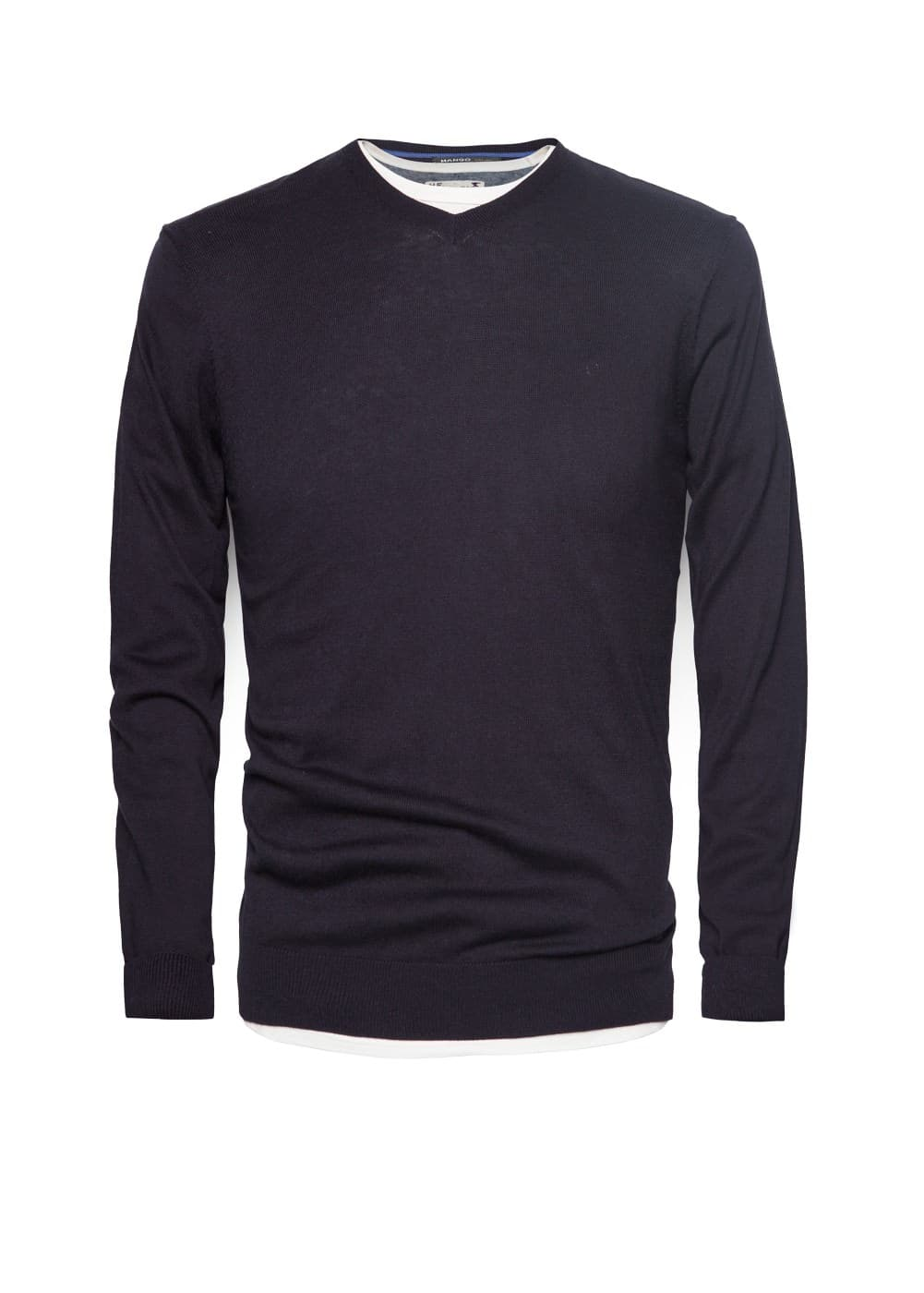 Silk cotton-blend sweater | MANGO MAN