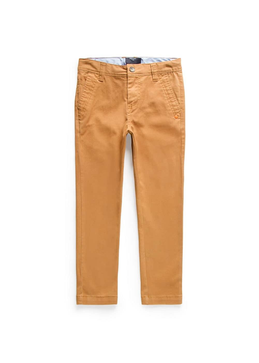 Pantalon chino straight-fit coton