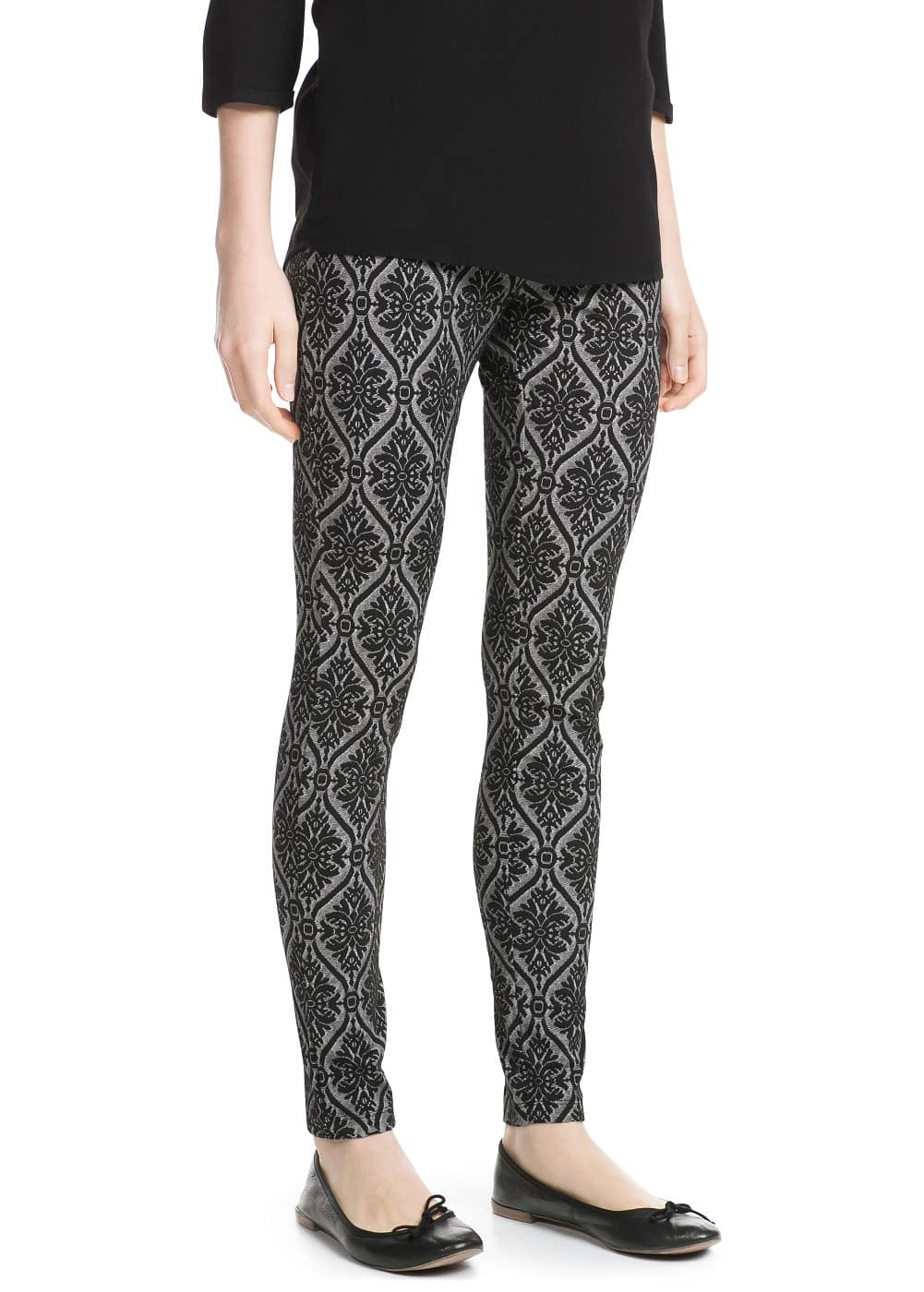 Baroque pattern leggings