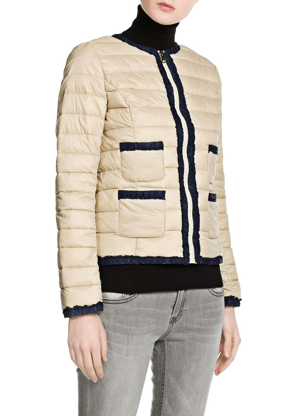 Anorak cropped plegable