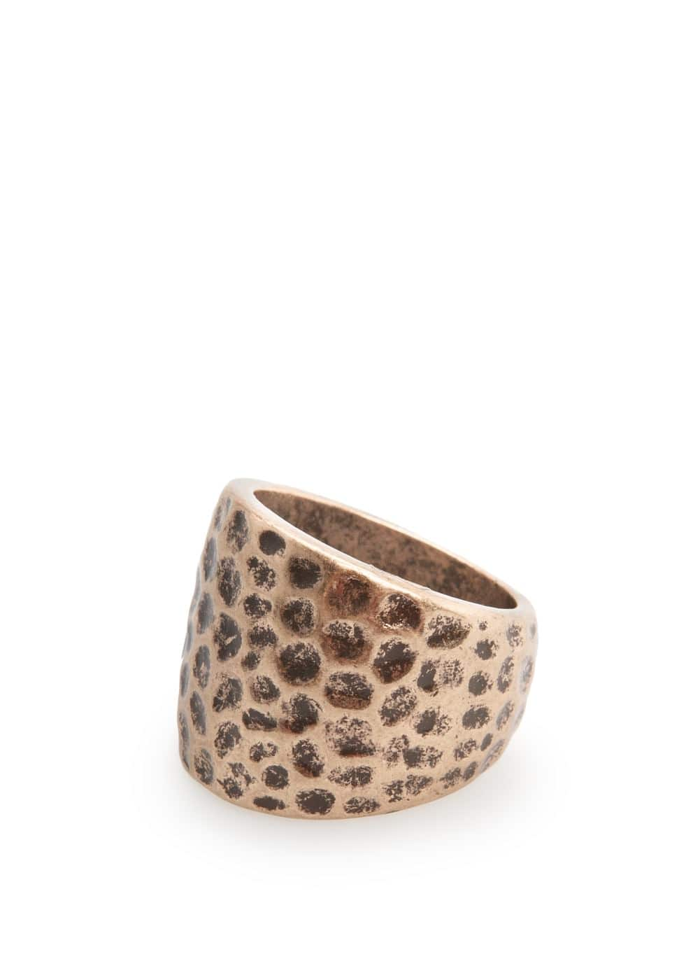 Embossed metal ring