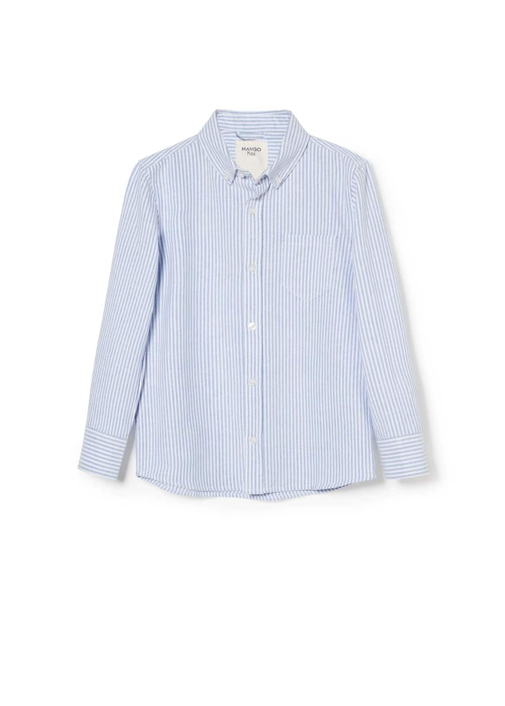 Striped oxford shirt | MANGO