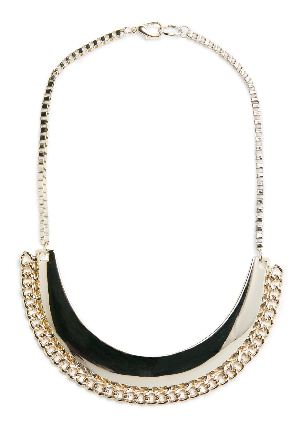 Curved plate necklace | MANGO