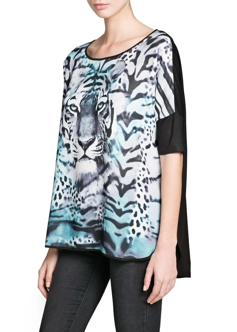 T-shirt gaze tigre