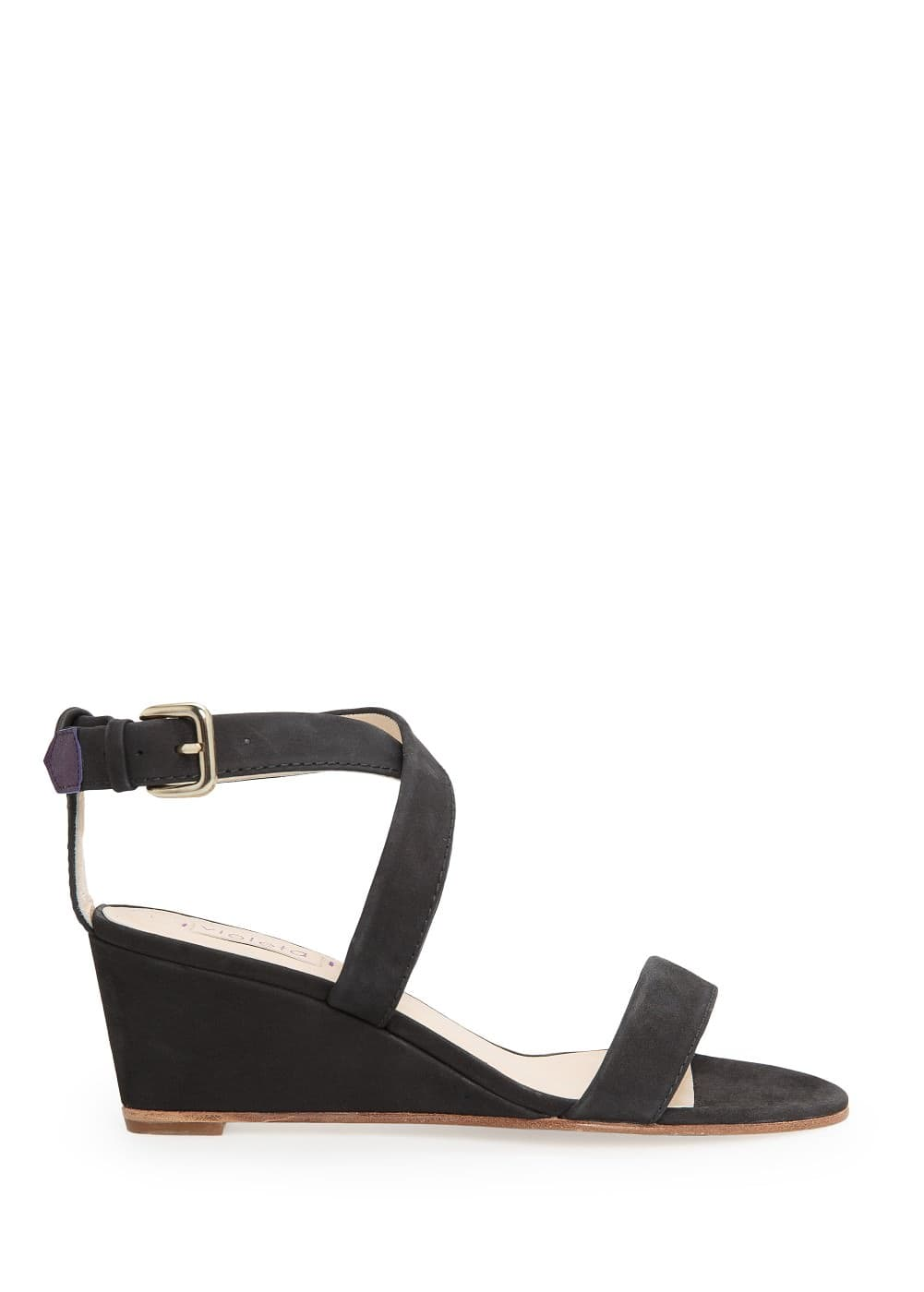 Nubuck wedge sandals
