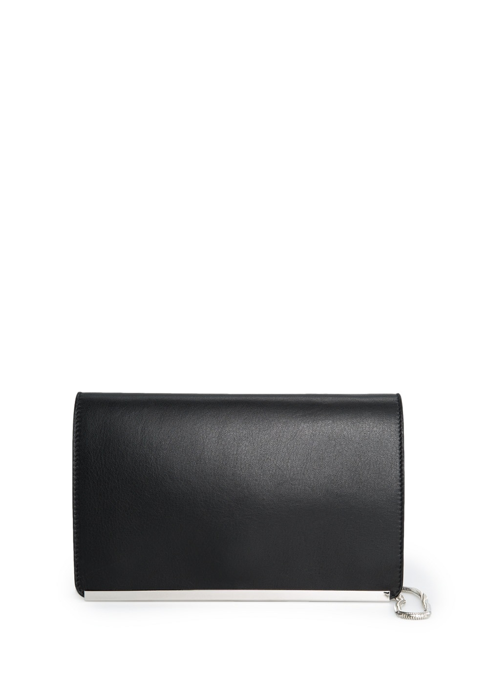 Premium - rectangular leather clutch | MANGO