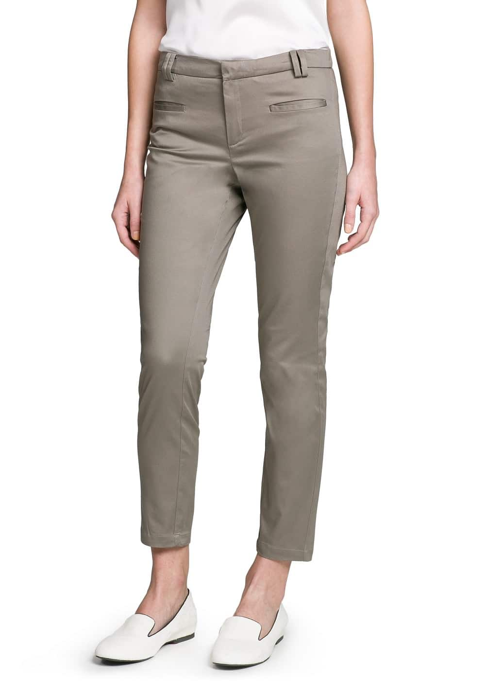Cotton cropped trousers | MANGO