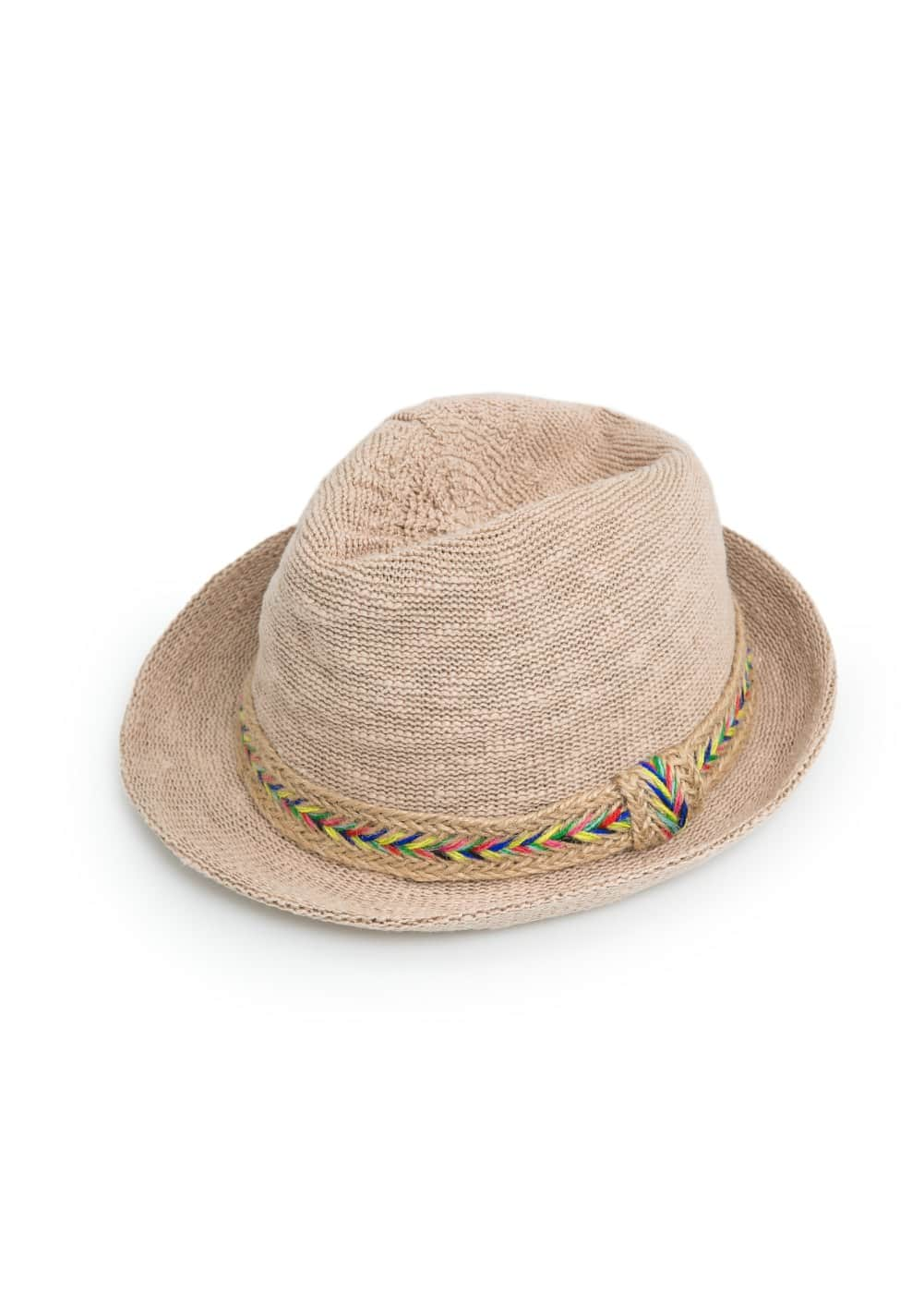 Ribbon fedora hat