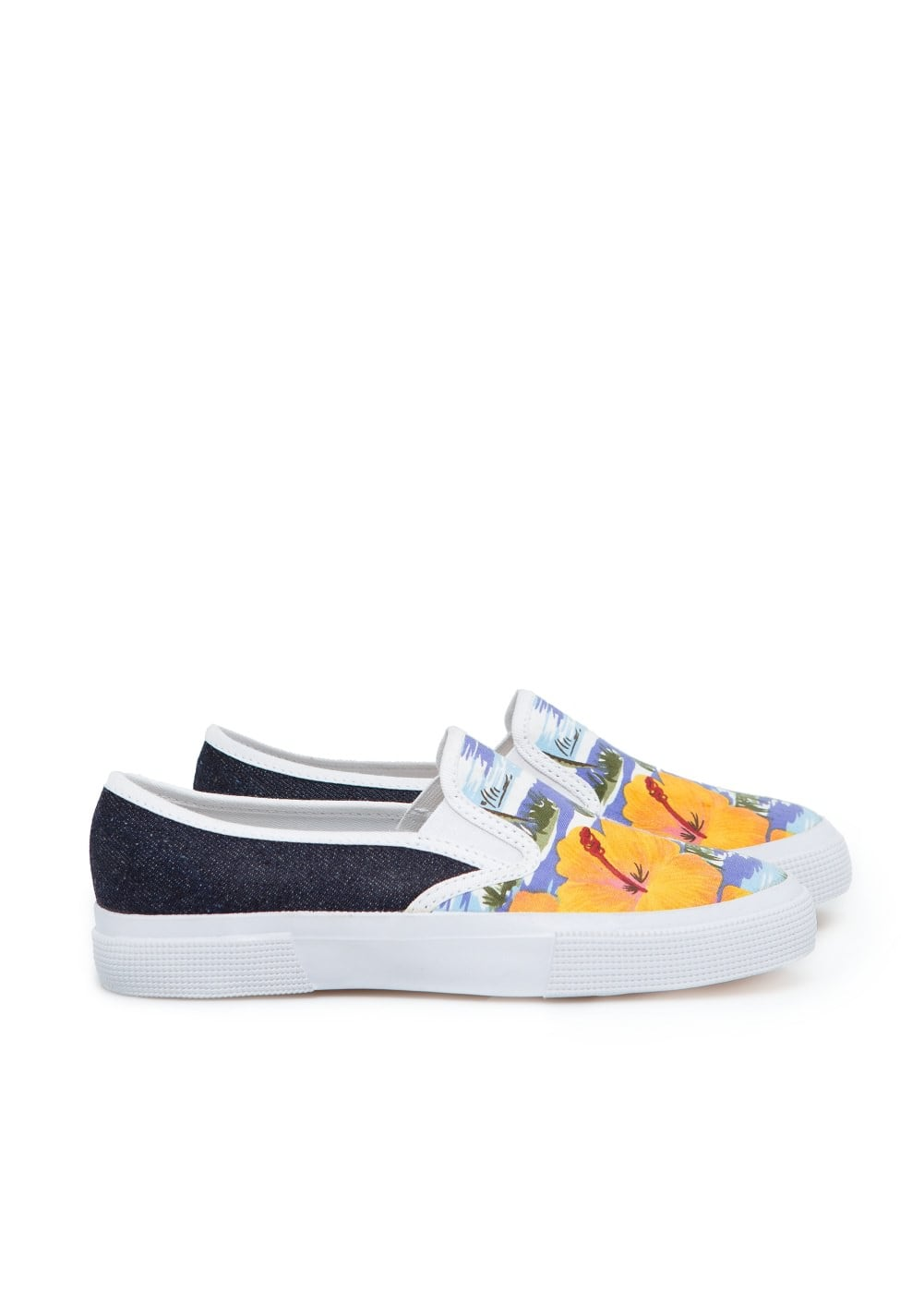 Tropical slip-on sneakers