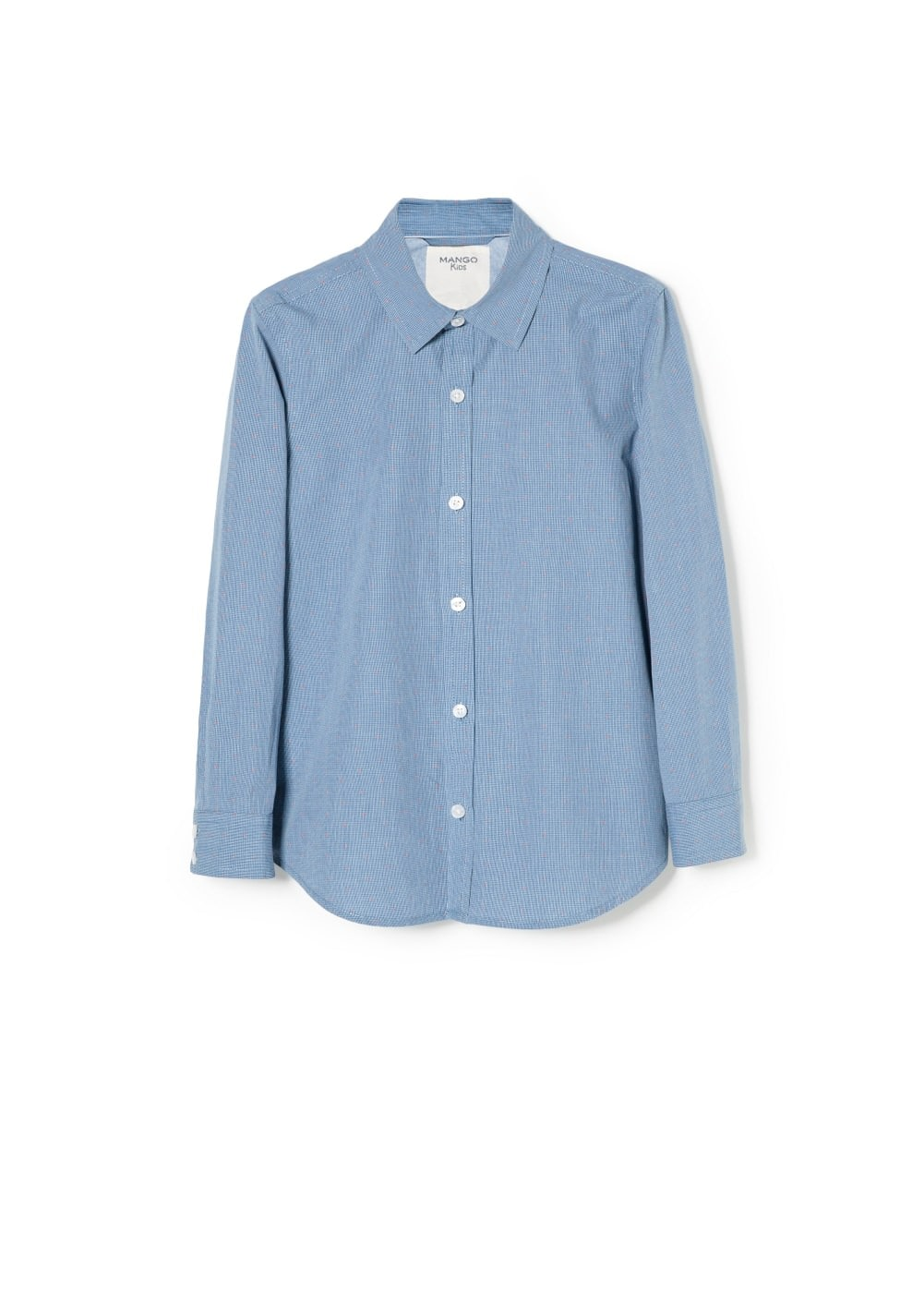 Micro check shirt | MANGO KIDS