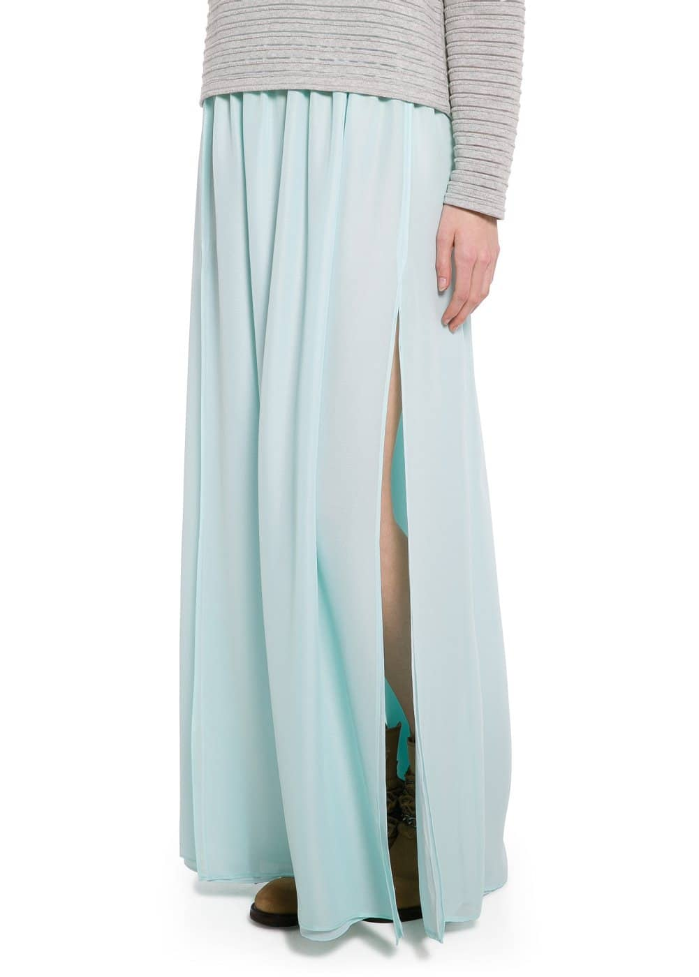 Cut-out long skirt | MANGO MAN