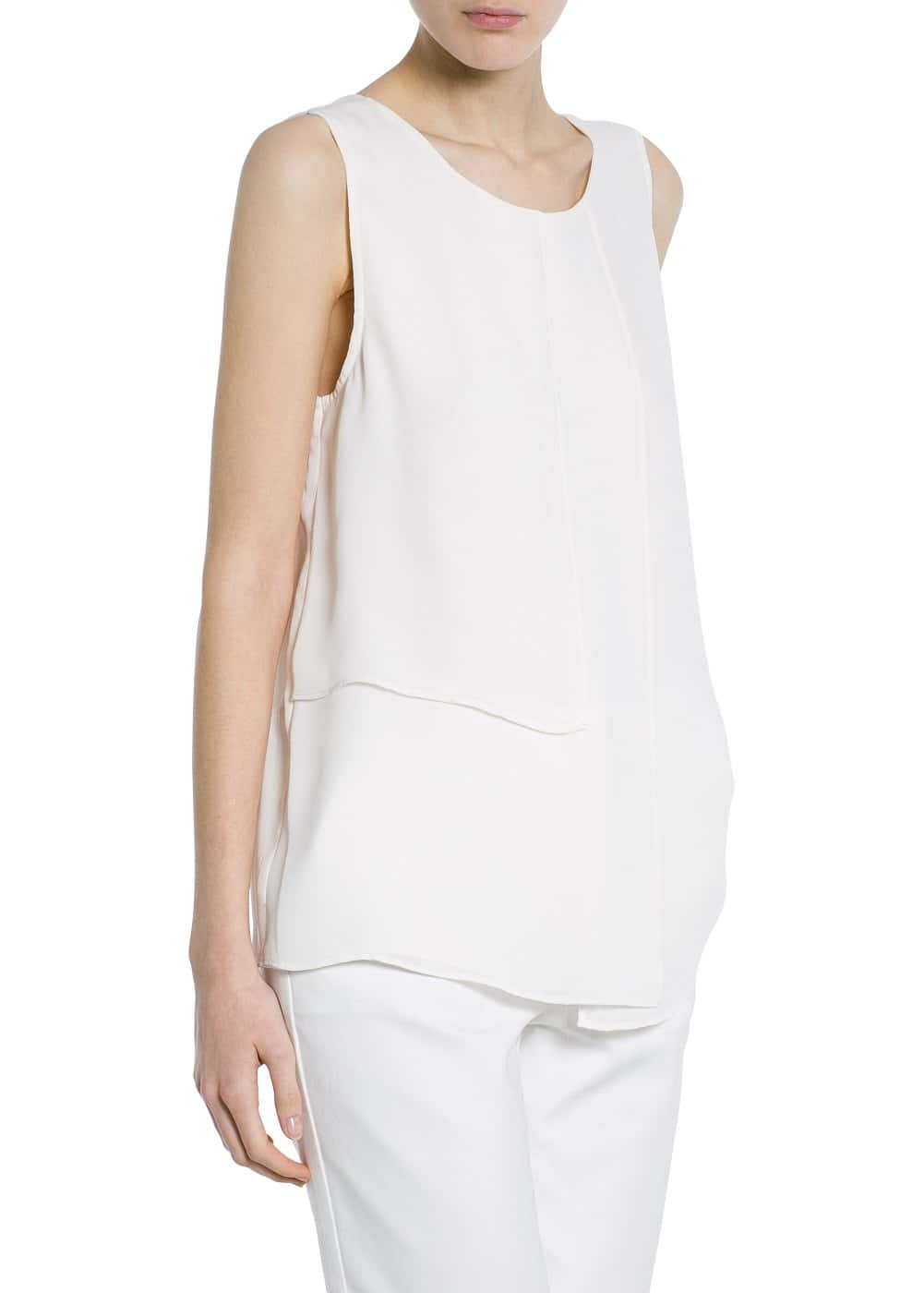 Draped detail top
