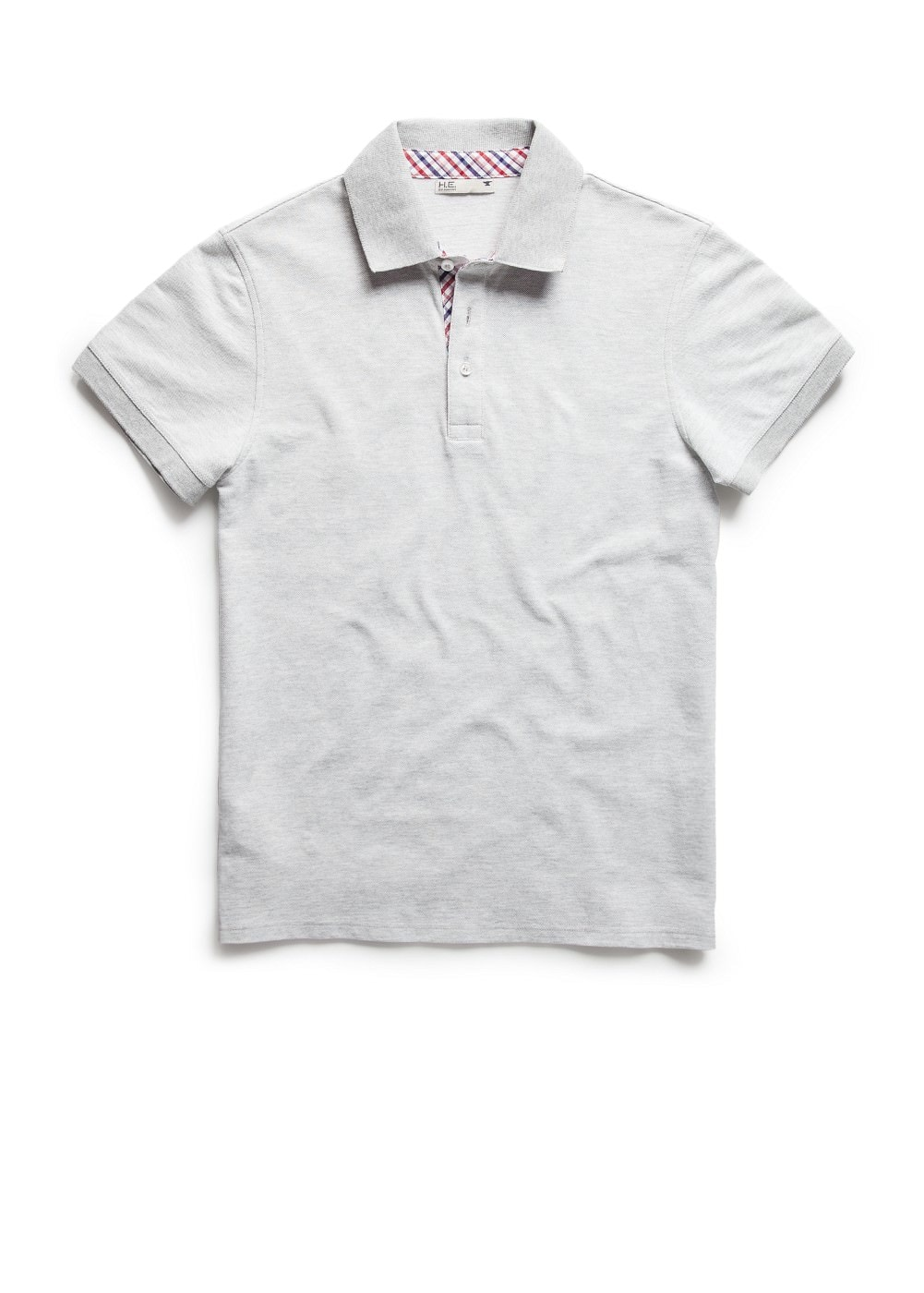Check placket piqué polo shirt | MANGO