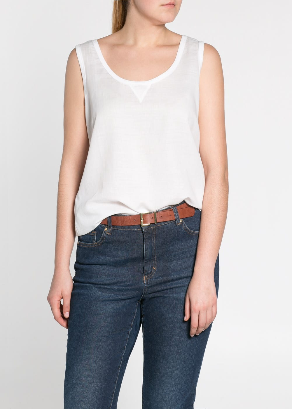 Cotton twill top