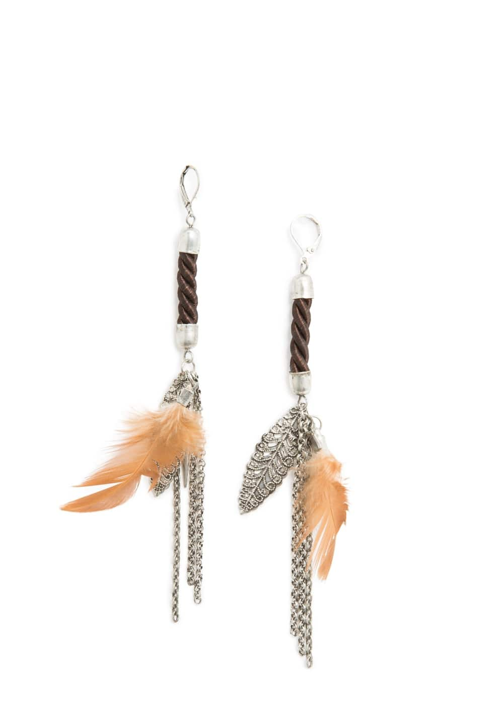 Fang cord earrings